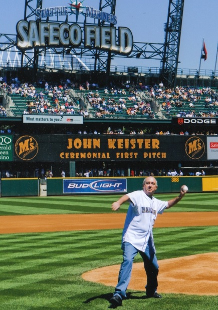 John Keister's First Pitch at the Seattle Mariners 2008